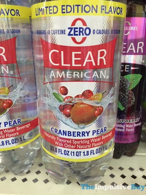 Limited Edition Clear American Cranberry Pear Sparking Water