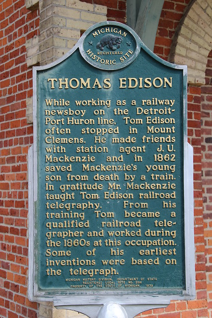 Thomas Edison Historical Marker Mount Clemens Michigan