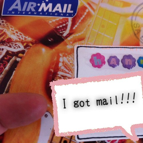 @thecgbj sent me a picture of my mail. I have a letter from Australia!! So exciting!! #typoinsta