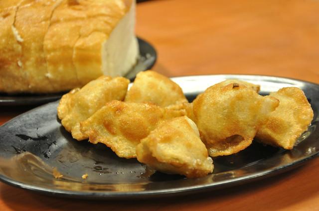 Fried Silver Roll Bread and Fried Dumplings