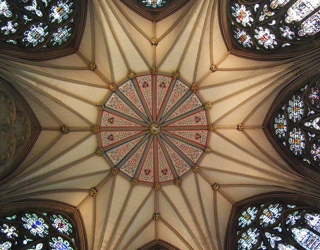 Chapter House Ceiling - York Minster - York, Yorkshire
