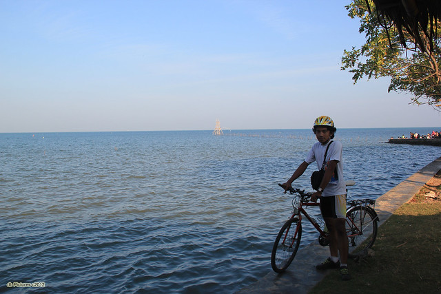 Me, bicycle, beach