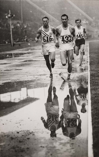 'Decathlon reflections', Olympic Games, London, 1948.