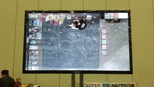 Drawing Chalkboard Mural at Otakon 2012