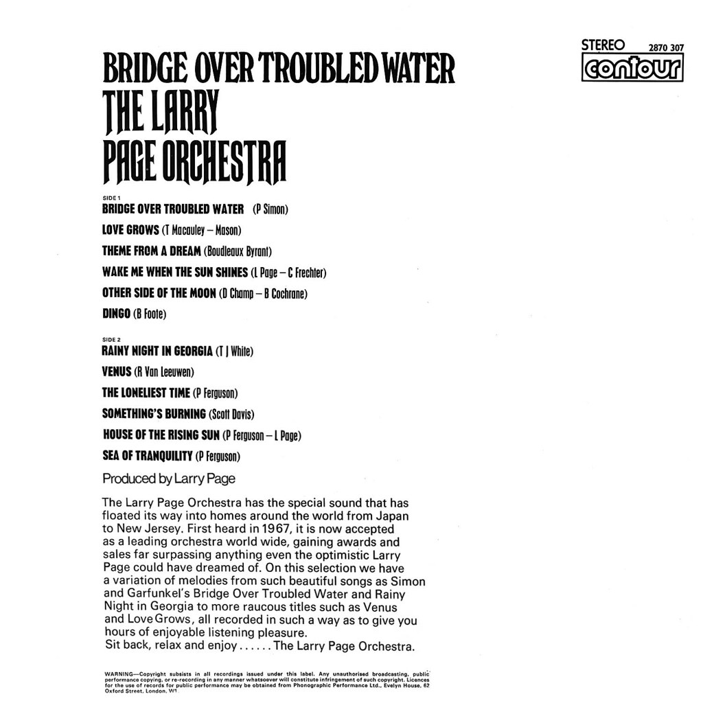 Larry Page - Bridge Over Troubled Water