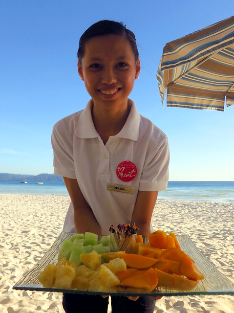 Discovery Shores Boracay beach pampering- fresh fruit