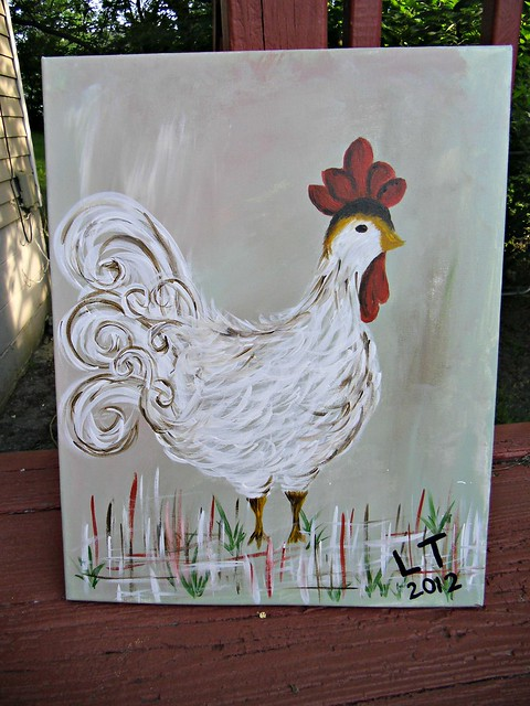 LOOK AT THE CHICKEN I PAINTED
