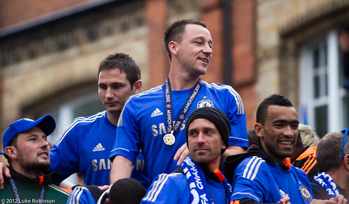 John Terry, Frank Lampard, Meirelles and Bosingwa - Champions of Europe