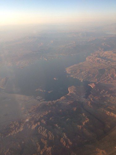 Hoover Dam & Lake Mead from the air