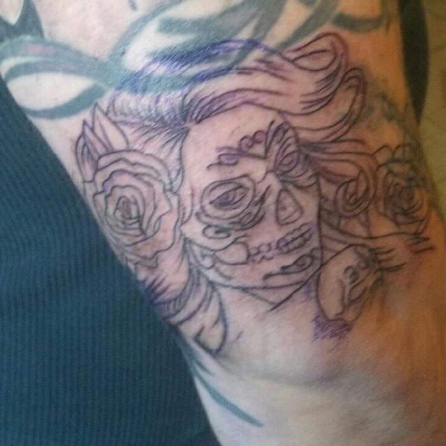 dennis thomas dia de los muertos tattoo work