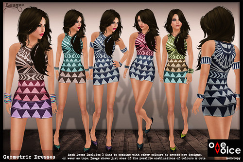 *League* Geometric Dresses -One Voice