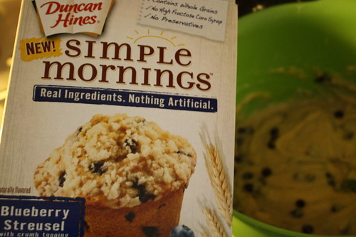 Simple Mornings Blueberry Streusel muffins