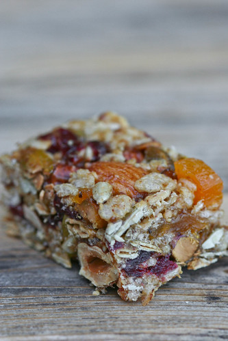 Seed & Nut Energy Bar cut