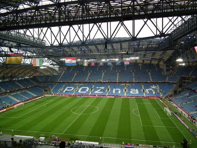 Stadion Miejski-Ireland V. Croatia in Poznan, Poland