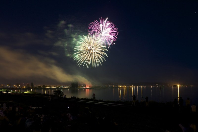 4th of July Fireworks from Blaine/Canadian Border 2012
