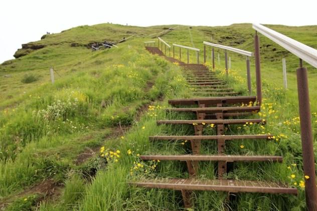 Skogafoss stairs