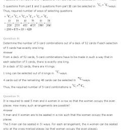 Maths Ch 7 Permutation and Combinations Class 11 NCERT Solutions - NCERT  Books [ 1028 x 797 Pixel ]