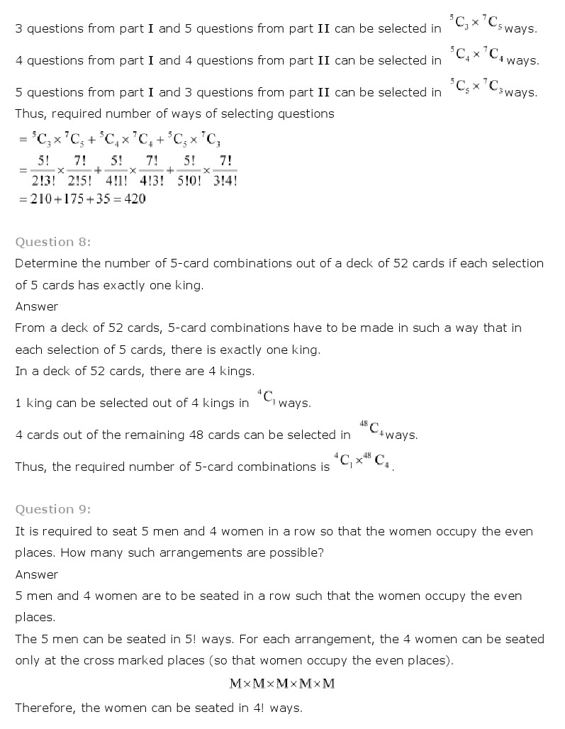 medium resolution of Maths Ch 7 Permutation and Combinations Class 11 NCERT Solutions - NCERT  Books