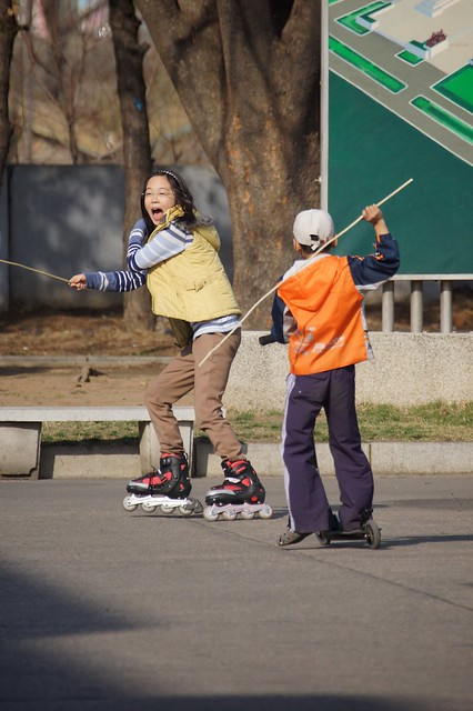 Pyongyang Roller Blading