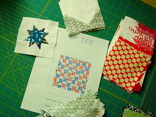 Stargazing quilt in progress