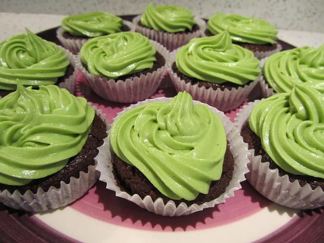 Chocolate Matcha Cupcakes