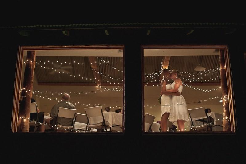 Brides at the reception