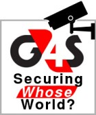G4S - securing whose world? Image of security camera focused on G4S