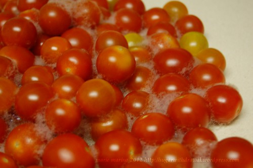 soap and tomatoes