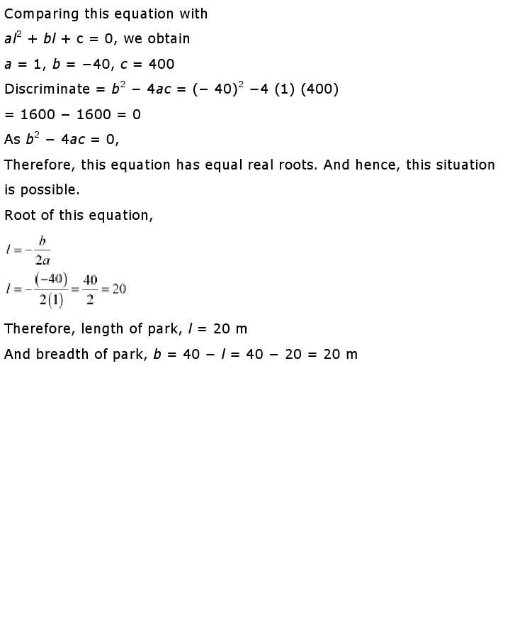 NCERT Solutions For Class 10th Maths Chapter 4 Quadratic Equations PDF Download 2018-19 NCERT Solutions For Class 10th Maths Ch 4