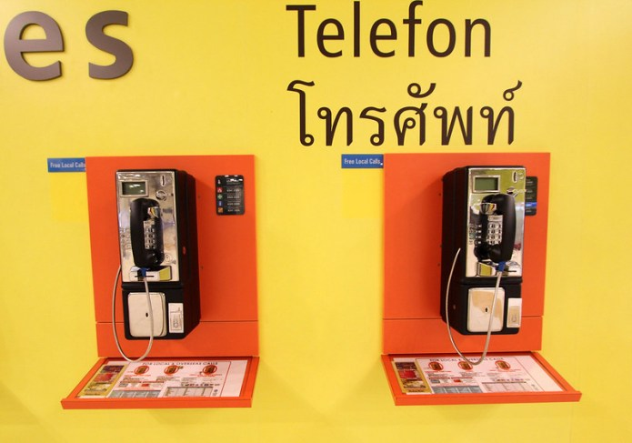 airport payphones