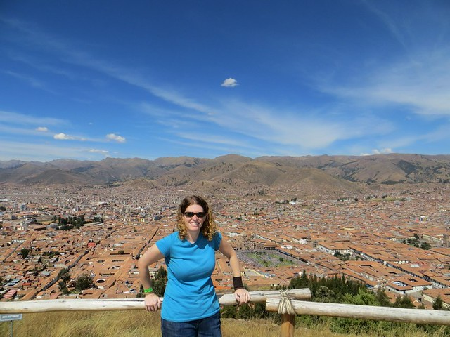 Amy above Cusco