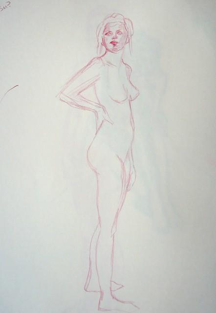 Lightly sketched standing model
