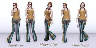 Adorkable Poses:  Flower Child