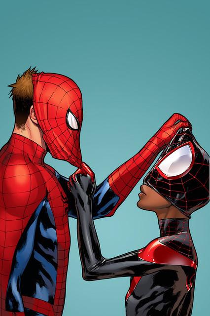 Universe Wallpaper Hd Spider Man Amp Catwoman Lock Screen 169 Pichelli Keaneonco