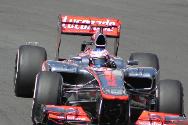 Jenson Button in his McLaren F1 car at the 2012 European Grand Prix in Valencia