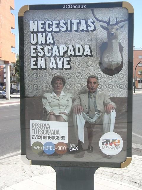 Campaña publicitaria tren Alta Velocidad verano 2012.
