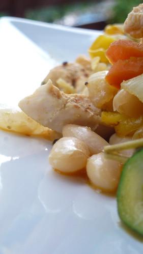 Bean & turkey salad
