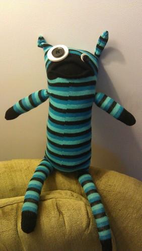 Skye's sock monster
