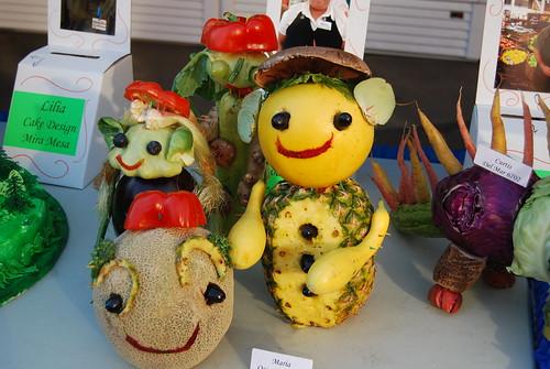Alien food sculptures
