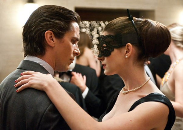 Christian Bale & Anne Hathaway in The Dark Knight Rises