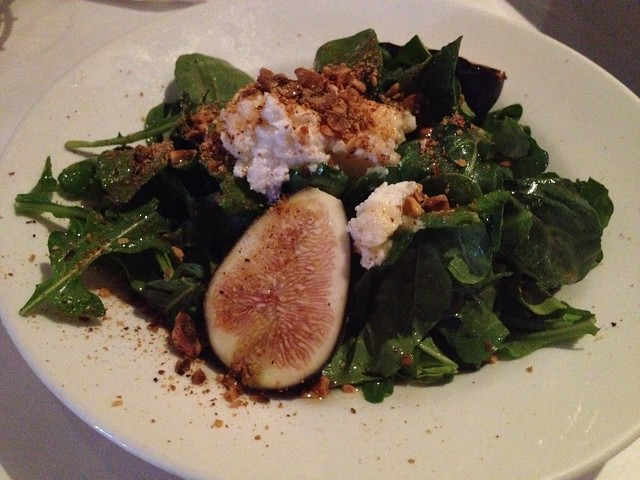 Fresh fig salad - Trio Restaurant