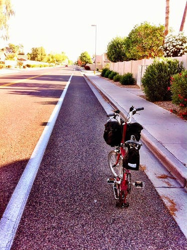 Shaded bike lane