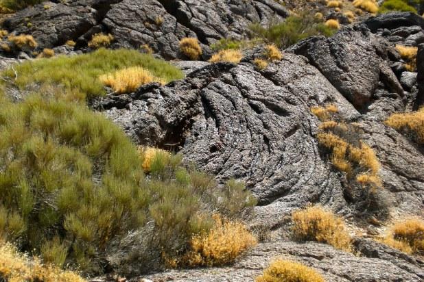 Lavas cordadas en El Teide