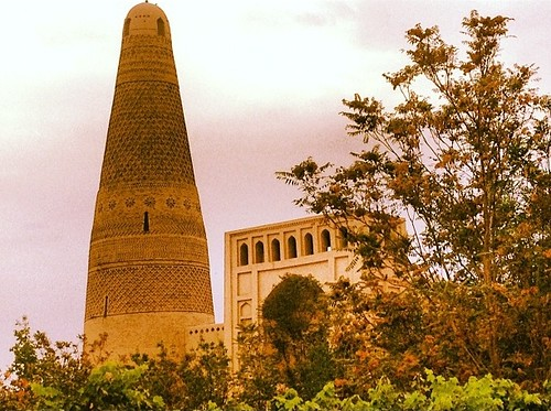 The Emin Minaret surrounded by Grapevines in Turpan China
