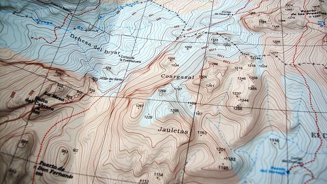 Mapa topográfico Coarzagal-Jauleta