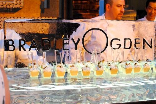 Bradley Ogden butterscotch pudding, candied pepitas