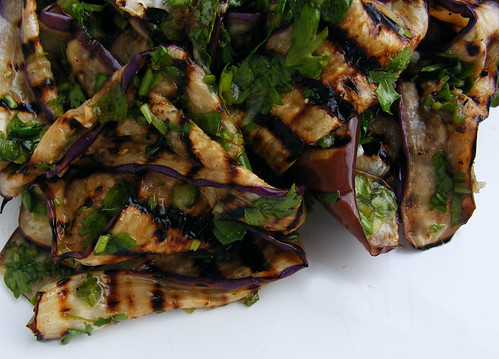 Grilled Aubergine Salad recipe