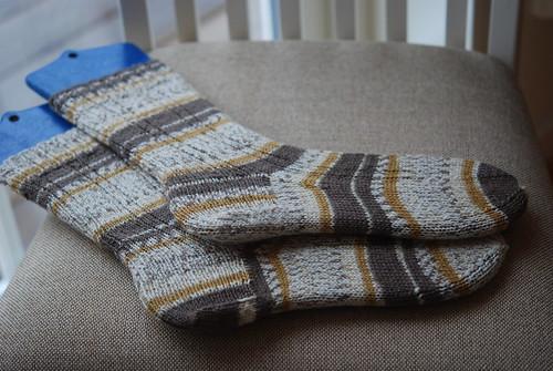 Madder Ribbed Socks - Arithmancy OWL