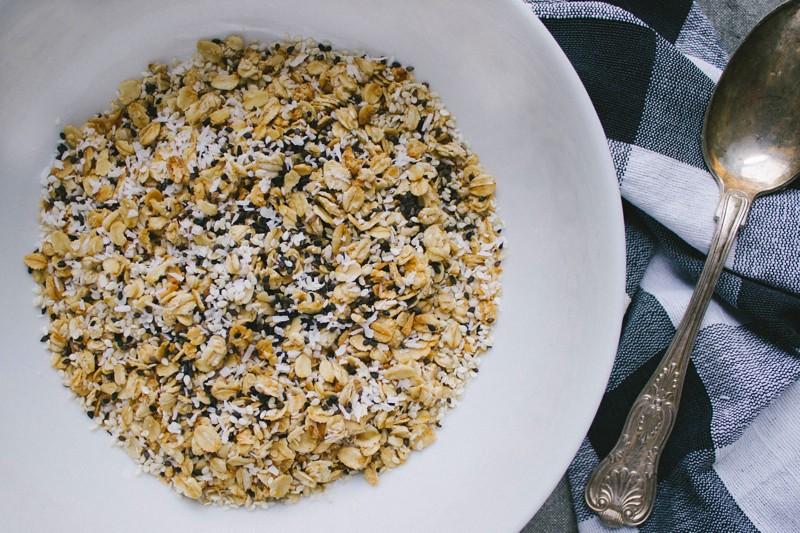 Black and White Granola