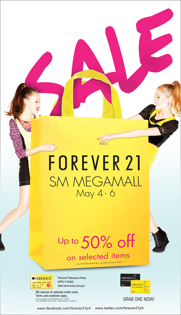 SM Megamall SALE 7colx40cm